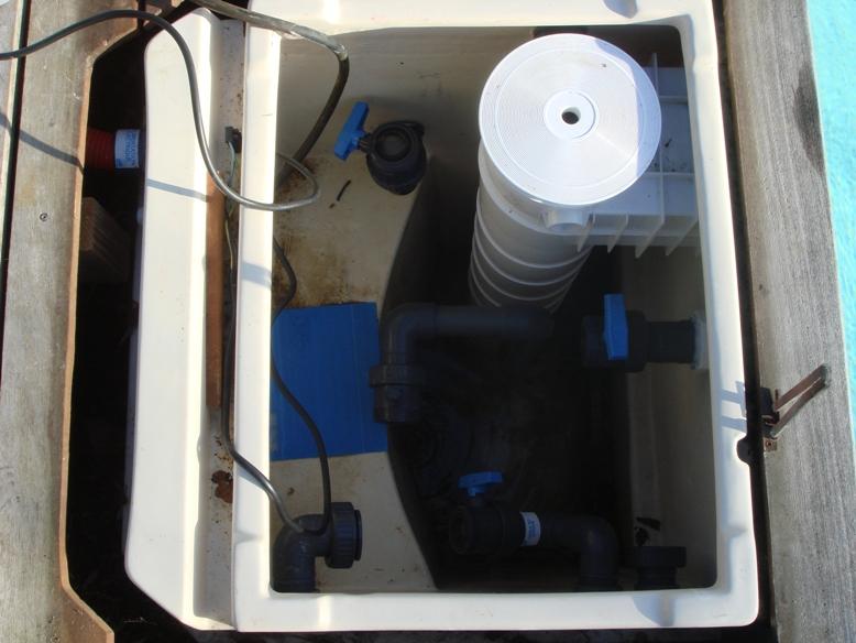 Suppression des différents éléments du groupe de filtration