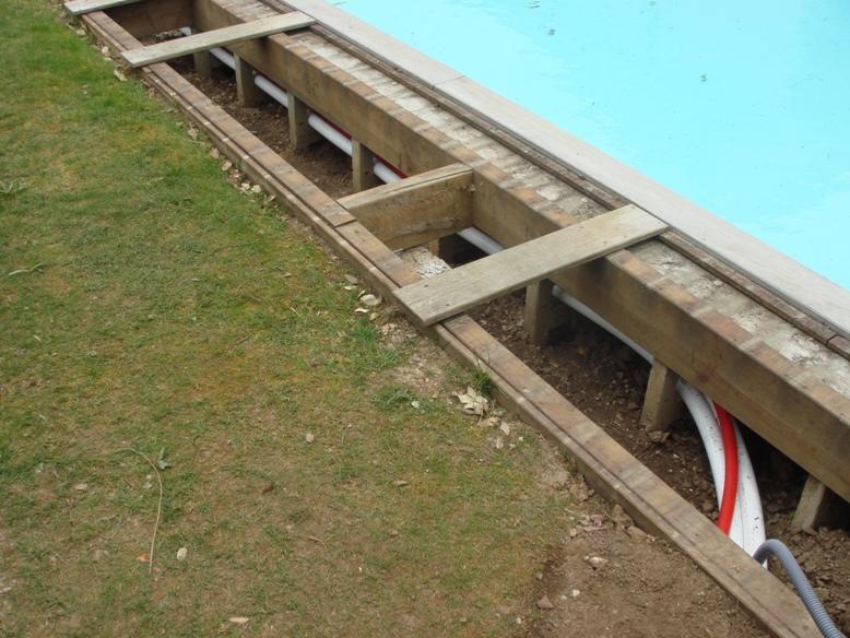 Passage des canalisations  piscine